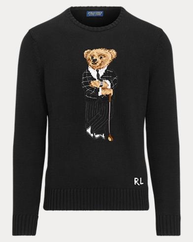 Golf Bear Cotton-Blend Sweater
