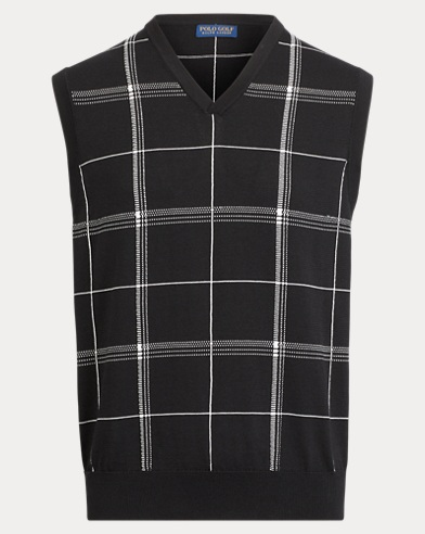 Cotton-Blend Sweater Vest