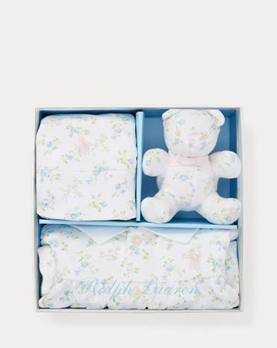 Floral Polo Shortall Gift Set