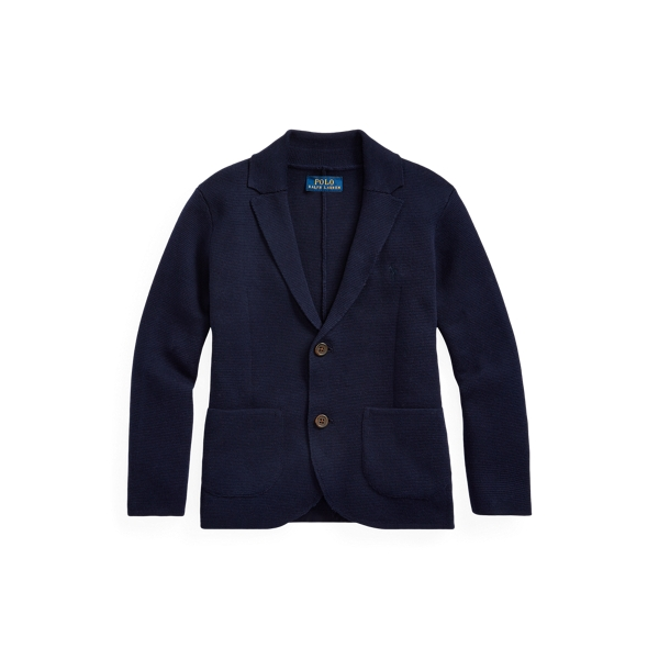 폴로 랄프로렌 Polo Ralph Lauren Notch Lapel Cotton Cardigan,RL Navy