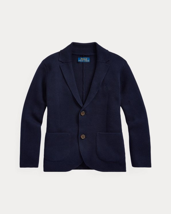 Notch Lapel Cotton Cardigan