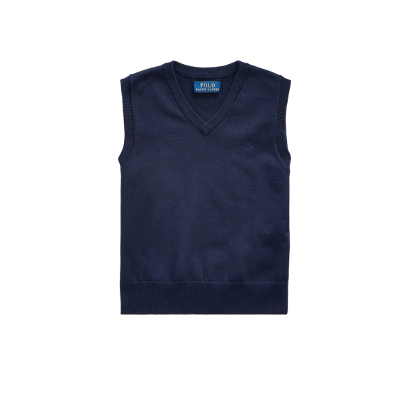 폴로 랄프로렌 남아용 스웨터 Polo Ralph Lauren Cotton V-Neck Sweater Vest,RL Navy
