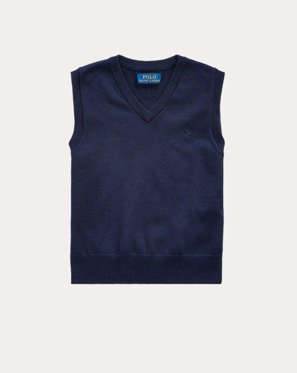 Cotton V-Neck Sweater Vest