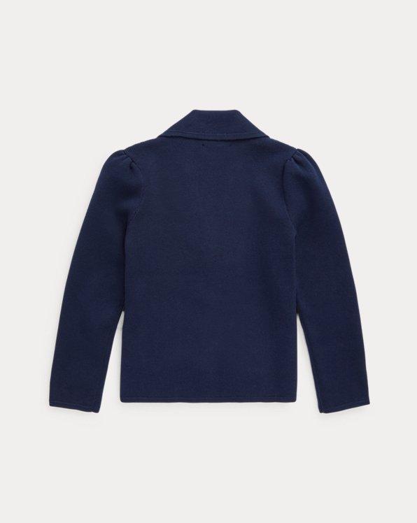 Knit Cotton-Blend Blazer