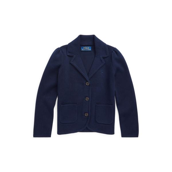 폴로 랄프로렌 여아용 블레이져 Polo Ralph Lauren Knit Cotton-Blend Blazer,RL Navy