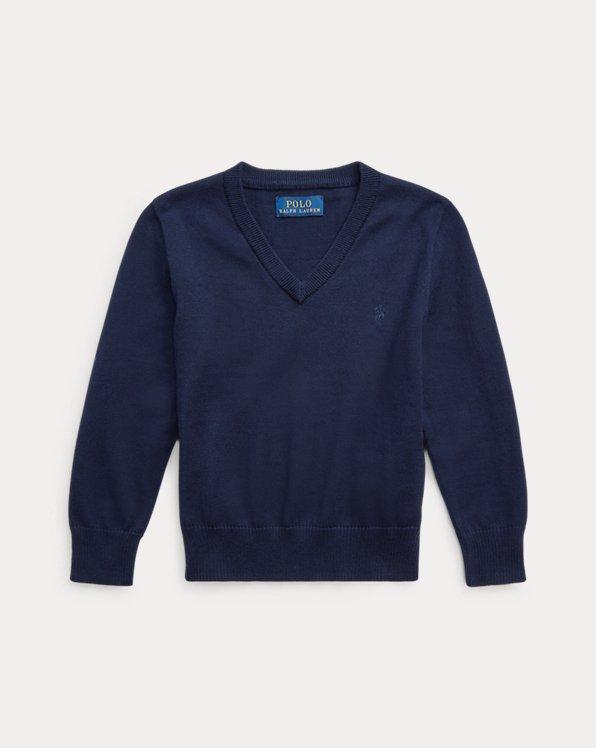 Cotton V-Neck Sweater