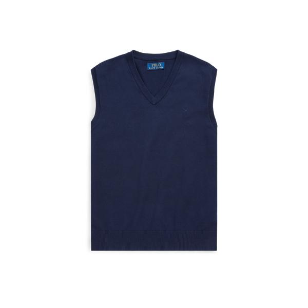 폴로 랄프로렌 Polo Ralph Lauren Cotton V-Neck Sweater Vest,RL Navy