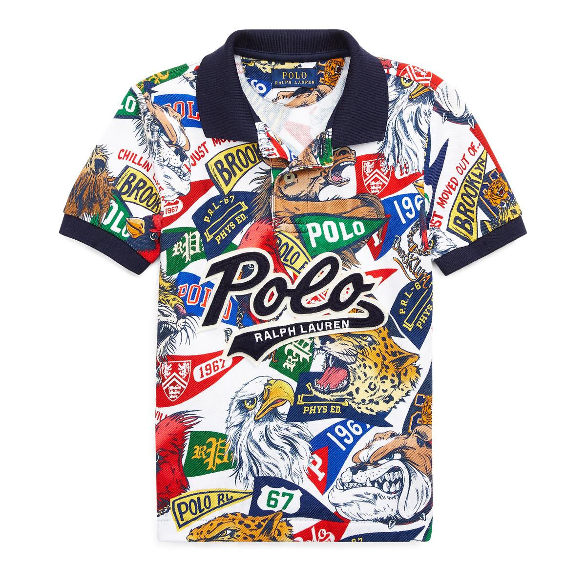 088ff59ba Cotton Mesh Graphic Polo Shirt