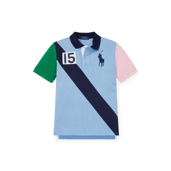 폴로 랄프로렌 보이즈 폴로셔츠 Polo Ralph Lauren Cotton Mesh Polo Shirt,Collin Blue
