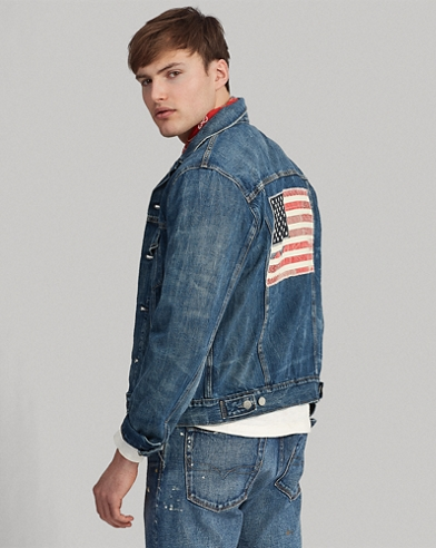 Flag Denim Trucker Jacket