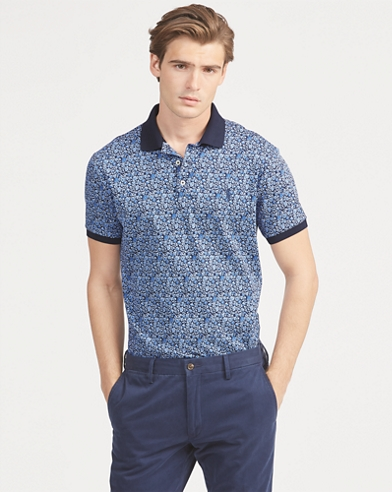 Slim Fit Floral Interlock Polo