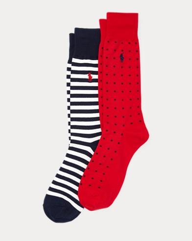 2paires de chaussettes pois et rayures