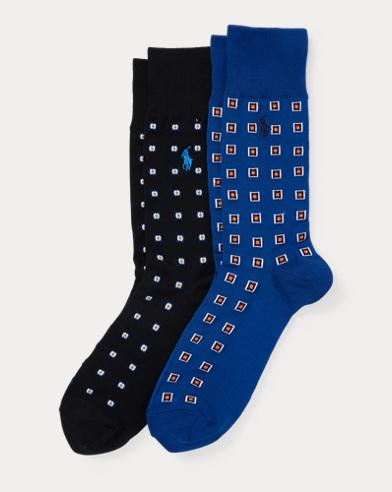 Art Deco Trouser Sock 2-Pack