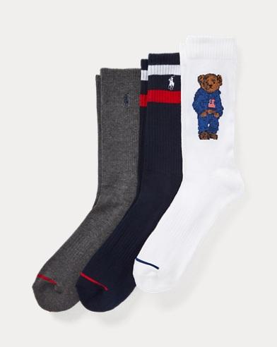 c0bc9db3fd8 Sport Crew Sock 3-Pack. Polo Ralph Lauren