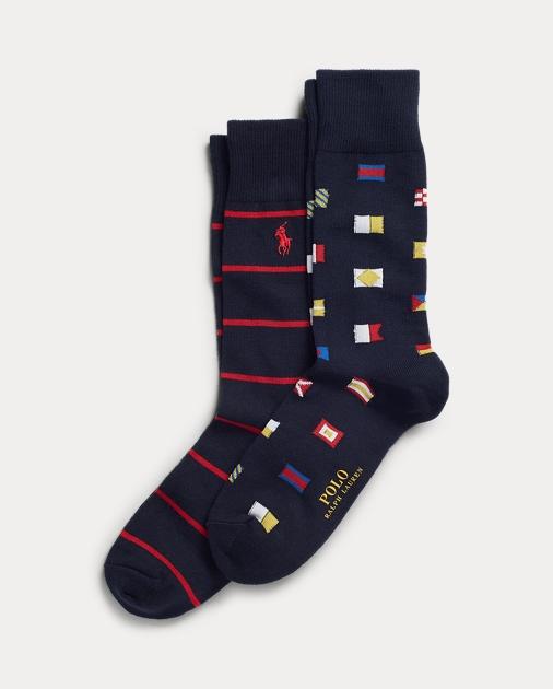 7865884c2374e2 Polo Ralph Lauren Nautical Flag Crew Sock 2-Pack 1