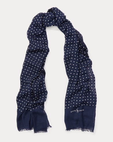 Reversible Polka-Dot Scarf