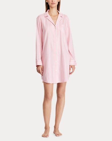 75efe78351 Striped Sleep Shirt. Lauren