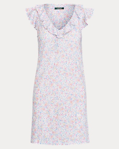 Ruffled Floral Nightgown