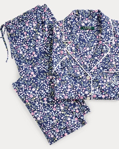 Floral Sateen Capri Sleep Set