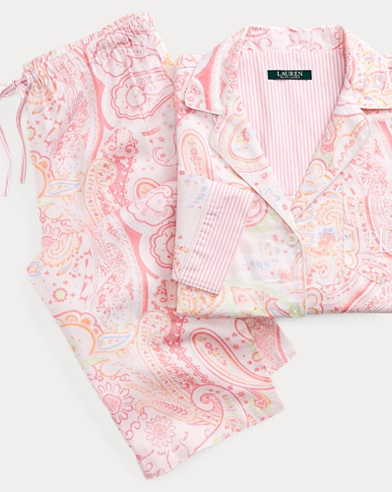 Paisley Sateen Sleep Set