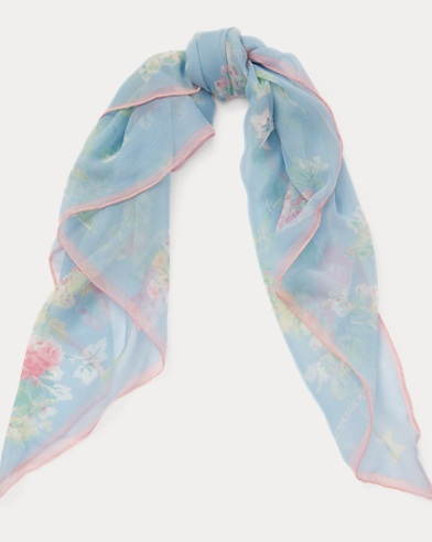 Anna Floral Silk Scarf