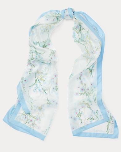 Nika Floral Silk Scarf