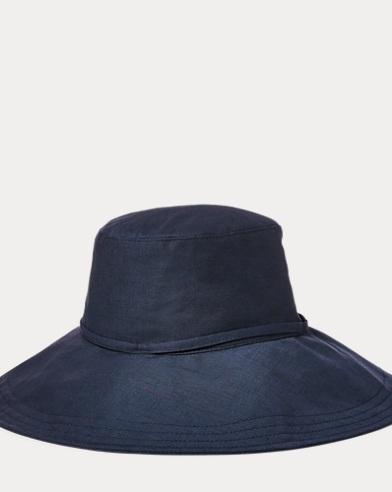 Packable Linen-Blend Hat