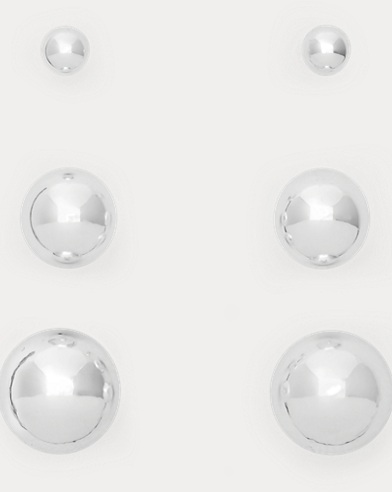 Silver Bead Earring 3-Pack