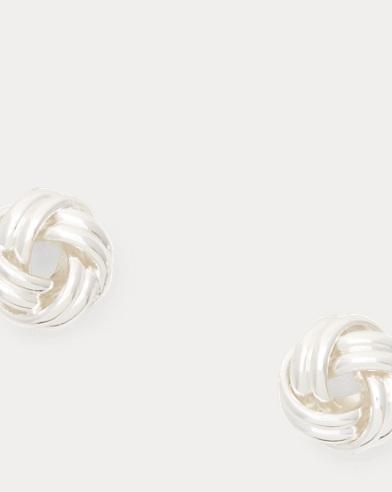 Brass Knot Stud Earrings