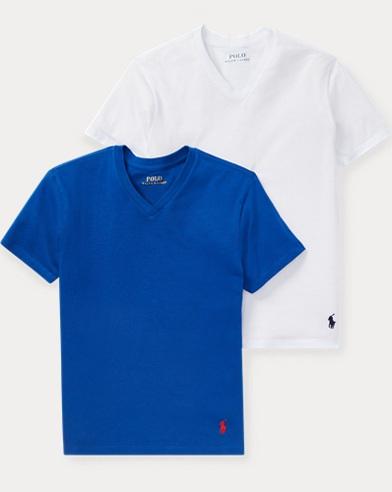 Cotton Jersey V-Neck 2-Pack