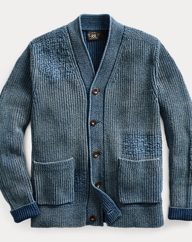 Indigo Cotton Cardigan