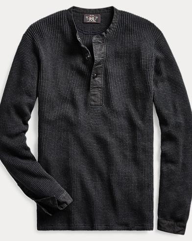 Cotton-Linen Henley Sweater