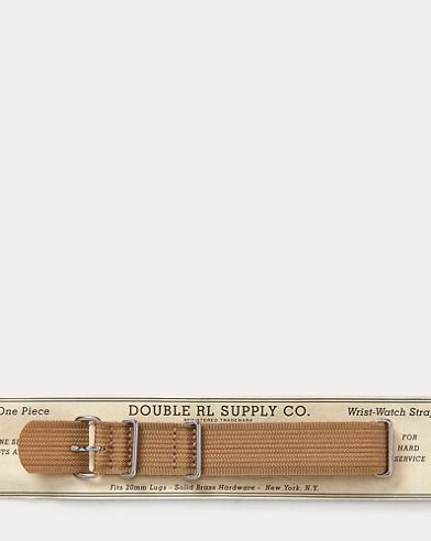 Ribbed Nylon Watch Strap