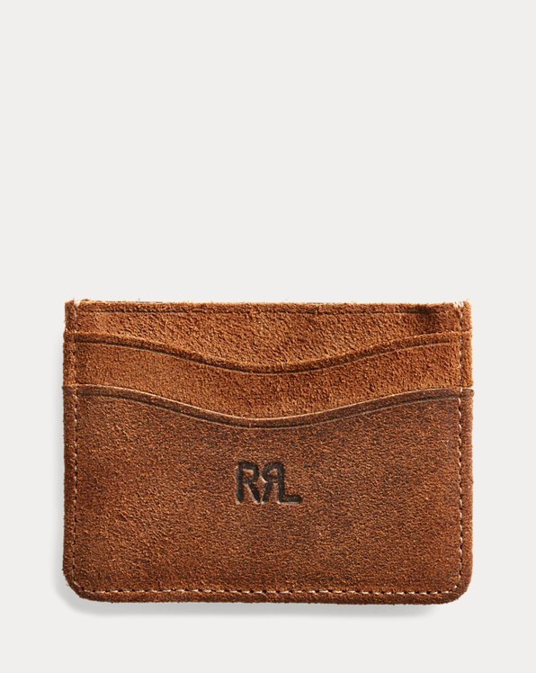 Roughout Suede Card Holder