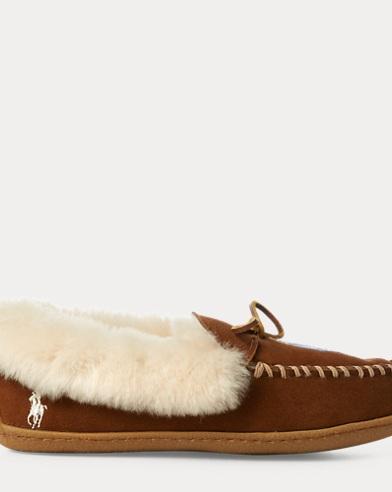 Polo Bear Moccasin Slipper