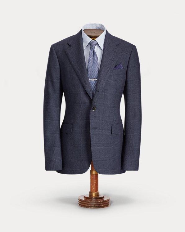 Glen Plaid Wool Suit Jacket