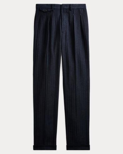 Slim Indigo Twill Suit Trouser