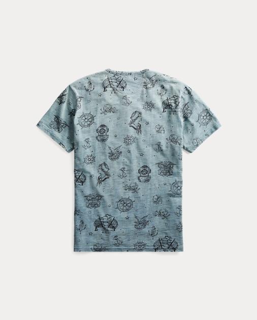 021fc8e74f1 RRL T-shirt à col tunisien graphique coton 2