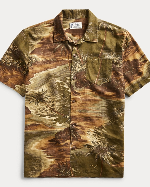 Linen Blend Camp Shirt by Ralph Lauren