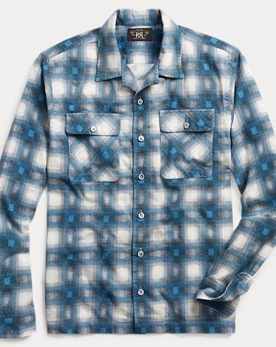 Plaid Flannel Camp Shirt