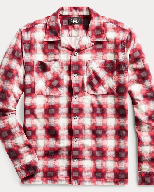Plaid Flannel Camp Shirt by Ralph Lauren