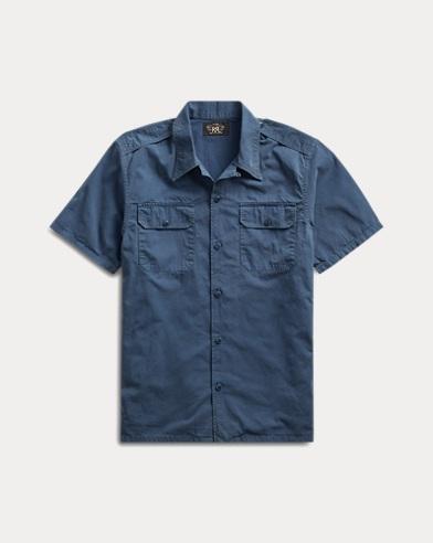 Cotton Twill Camp Shirt