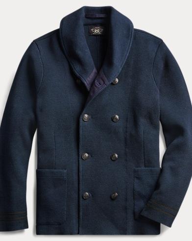 Indigo Cotton Cardigan