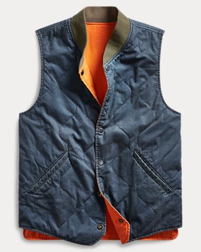 Reversible Cotton Twill Vest