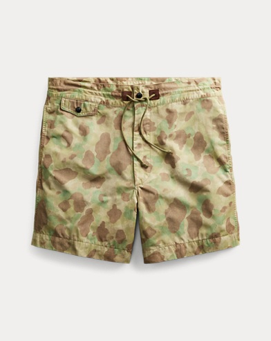Camo Cotton-Blend Short