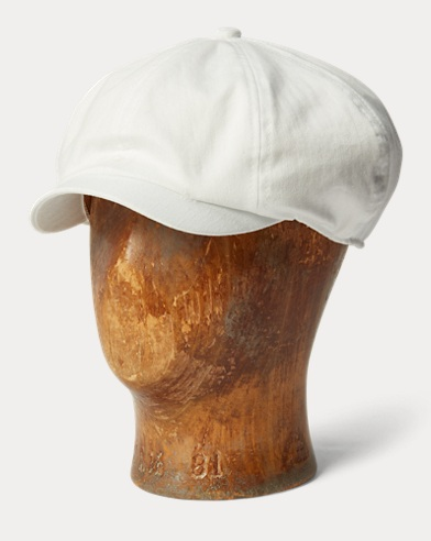 Cotton Herringbone Newsboy Cap