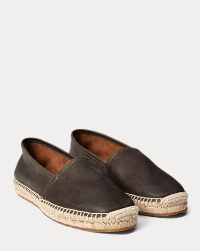 Leather Espadrille