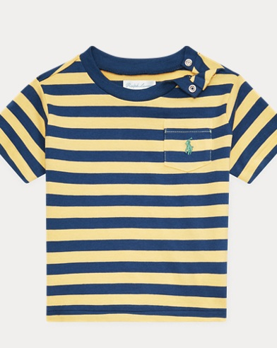 0e22b68a3bc817 Striped Cotton Jersey Tee. Baby Boy