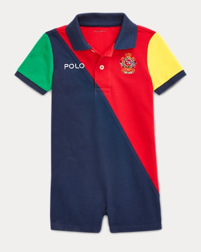 01d60dbf5a18 Color-Blocked Polo Shortall
