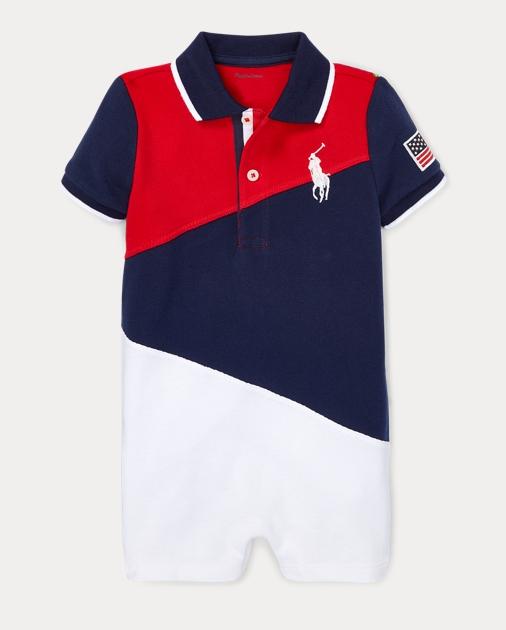 Ralph Lauren Baby Boys Cotton Mesh Polo Shortall